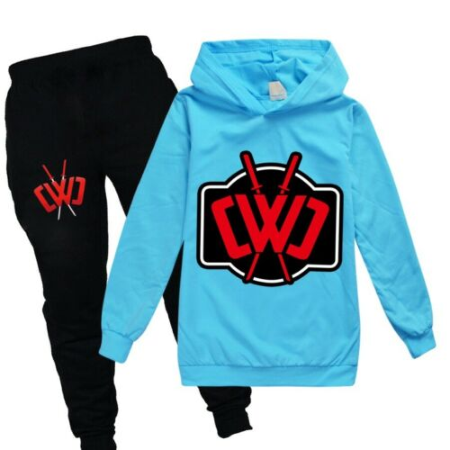 Hot Kids CWC Slogan Chad Wild Clay Hoodies Outfit Spring Tracksuit Hoodies+Pants