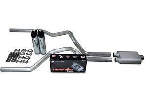"Ford F-150 Truck 04-14 2.5/"" Dual Truck Exhaust Kits No Muffler Slash Tips"