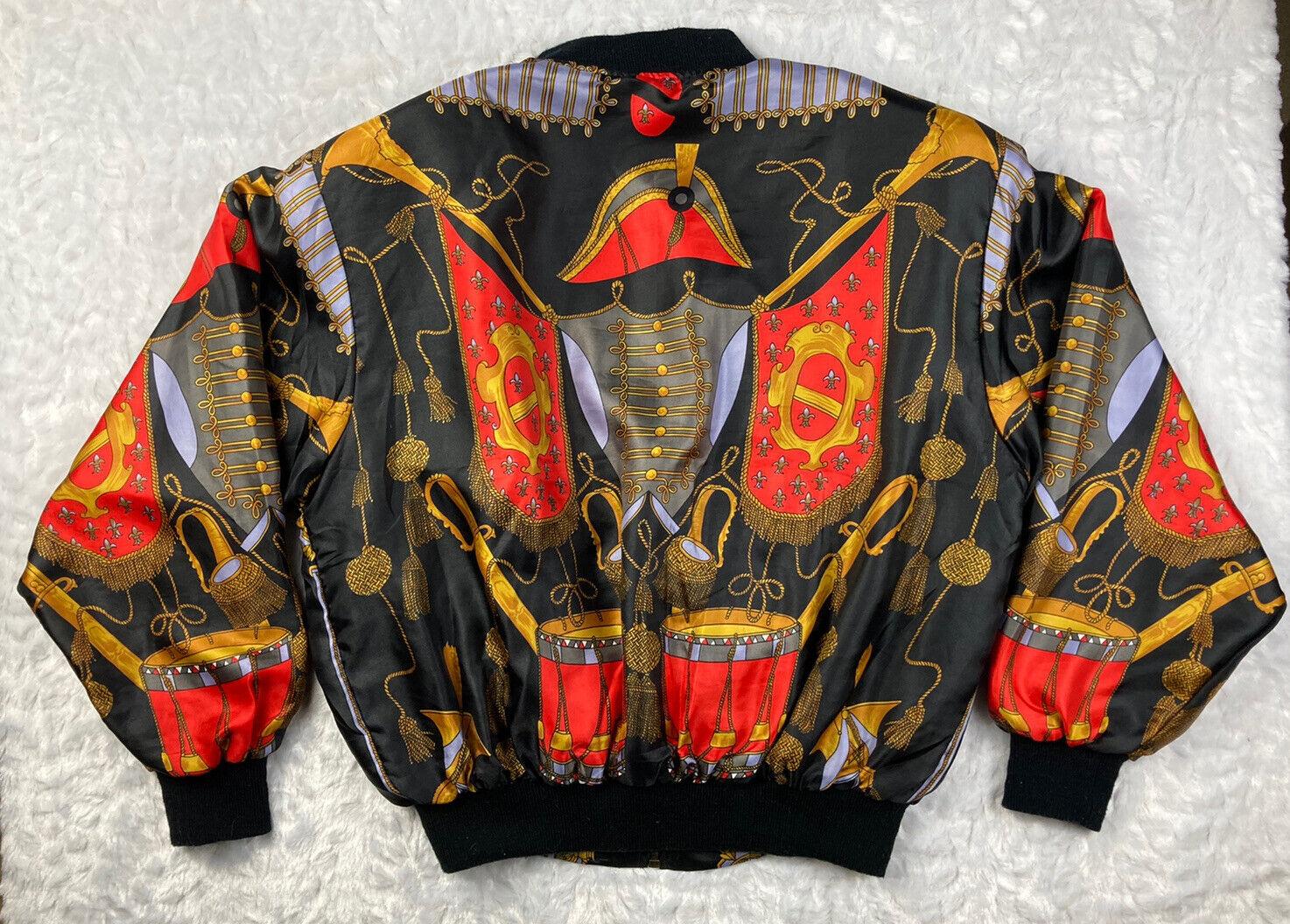 Vintage PARA-SILK Black/Red/Gold Military Soldier… - image 2