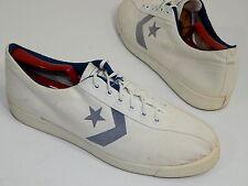 Vtg Converse ONE STAR USA Men White Canvas TENNIS Sneakers Shoes RETRO 10.5 1/2