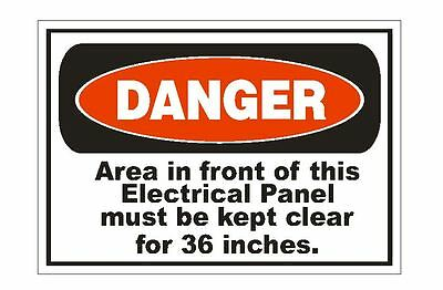 Danger 110 Volts Electrical Electrician OSHA Safety Sign Sticker D214