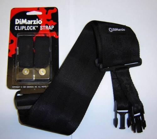 "Dimarzio BLACK 3/"" Cliplock Strap Ibanez Jem RG Fender Strat Gibson Les Paul SG"