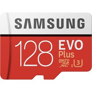 128GB Samsung Evo Plus Micro SD Card SDXC 100MB/s Mobile Phone Memory Card