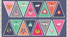 FANTASIE Bunting-Panel Baumwolle stoff Makower Größe 110cm x 60cm