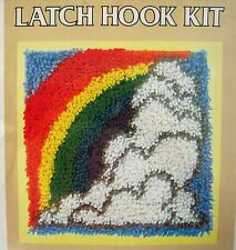 Vtg Latch Hook Kit Rainbow National Yarn Crafts P401 After the Rain Rug Making