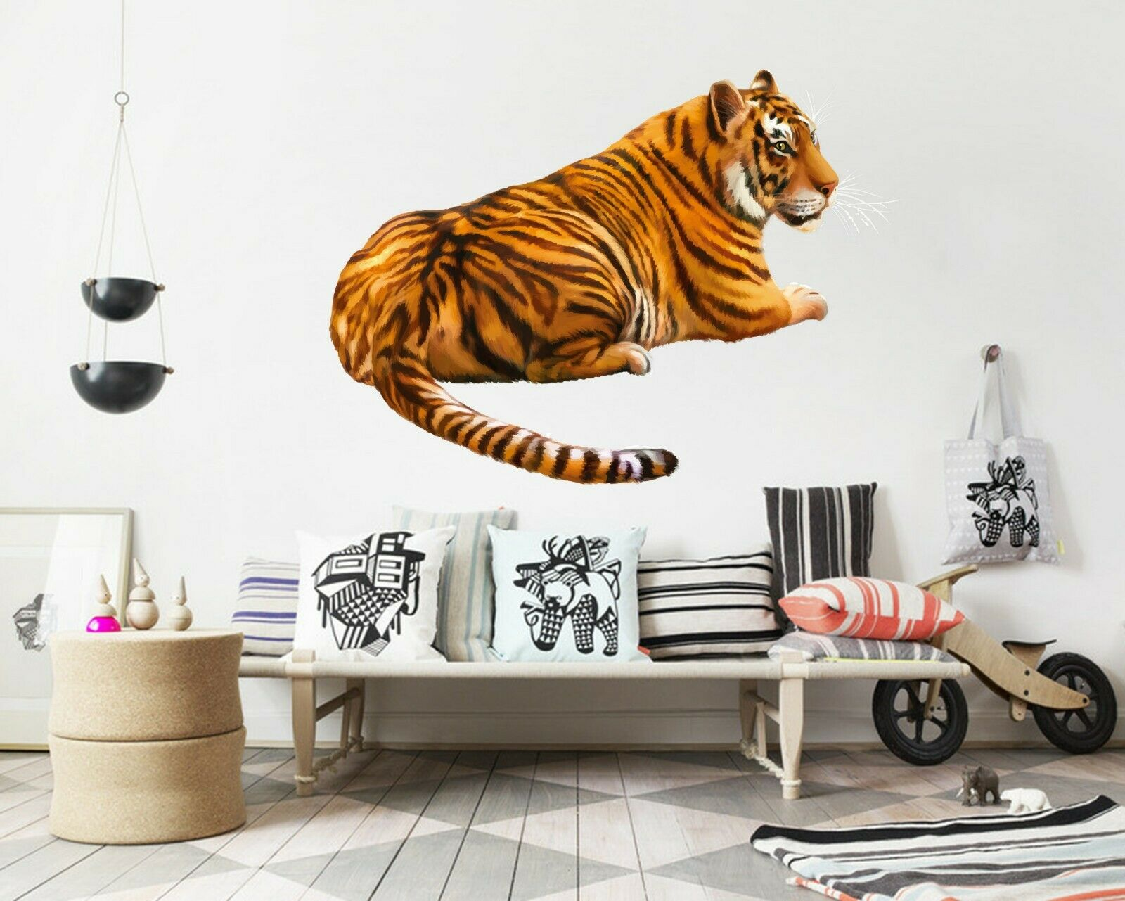 3D Cool Tiger B56 Animal Wallpaper Mural Poster Wall Stickers Decal Wendy