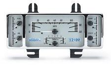 Dakota Digital 40-47 Ford Pickup Analog Dash Gauges Kit Silver White VHX-40F-S-W