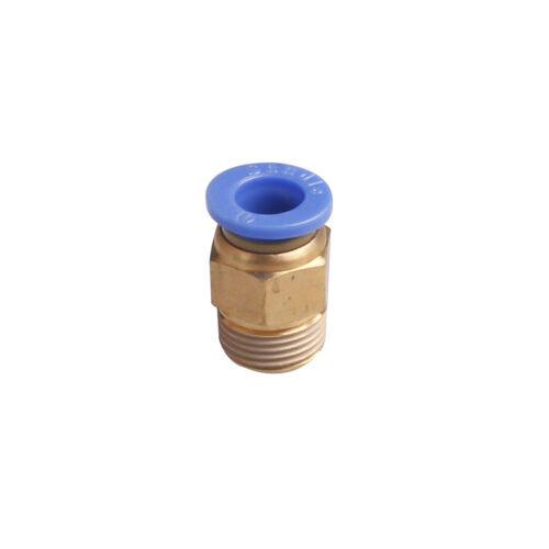 """20 un PT 1//4/"""" Rosca Macho 8mm Push en conjunto neumático conector rápido Accesorios"""