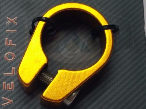 Bicycle Seatpost Seatclamp Collar Frame Seat Clamp Aluminum 28.6mm 1-1//8 GOLD