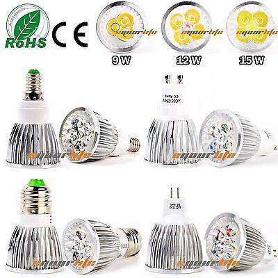 Epistar 9W 12W 15W MR16 GU10 E27 E14 LED Spot Light Lamp Warm Cool White Bulb