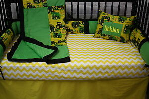 Image Is Loading 5 Pc Tractor John Deere Baby Bedding Free