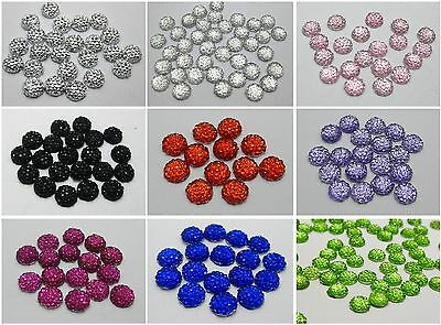 500 Flatback Resin Round Dotted Rhinestone Gems 6mm Pick Your Color
