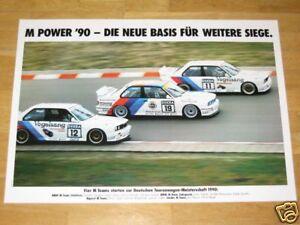 BMW-M3-E30-EVO-POSTER-4-M-POWER-1990-GERMANY-ORIGINAL-VINTAGE-in-MINT-RARE