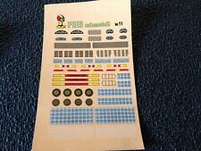 FDS AUTOMODELLI DECALS N°11 COUNTERS GRILLS PORSCHE-LIGHTS BRAKES 1/43
