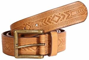 New Mens Embossed Leather Belts-321  Mens Belt Brigalow