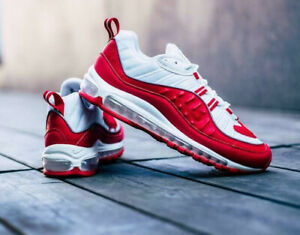 Détails sur Nike Air Max 98 Men's RED Trainers Lifestyle sneakers UK 8.5 US 9.5 EUR 43