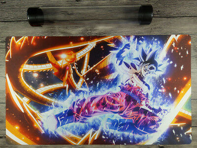 Dragon Ball MEWTWO Custom trading card game playmat tapis Gratuit De Haute Qualité Tube