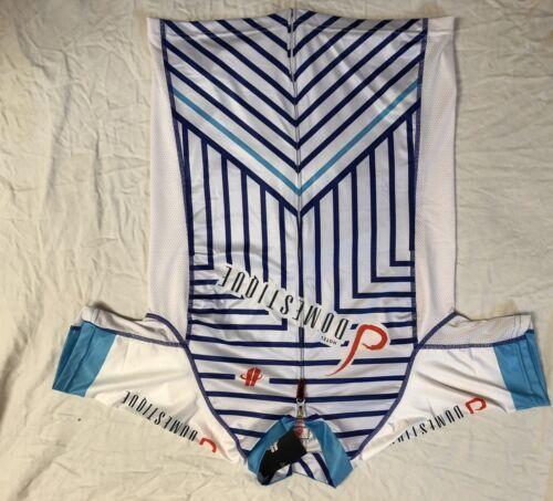 Grande femme Hotel Domestique Hincapie manches courtes Jersey Blanc//Bleu Closeout