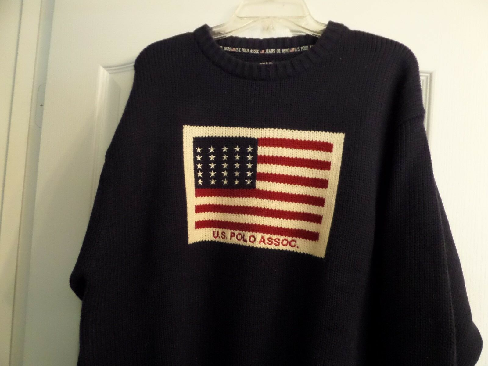 Polo U.S Assoc. Vintage Sweater Dark bluee American Flag Size L