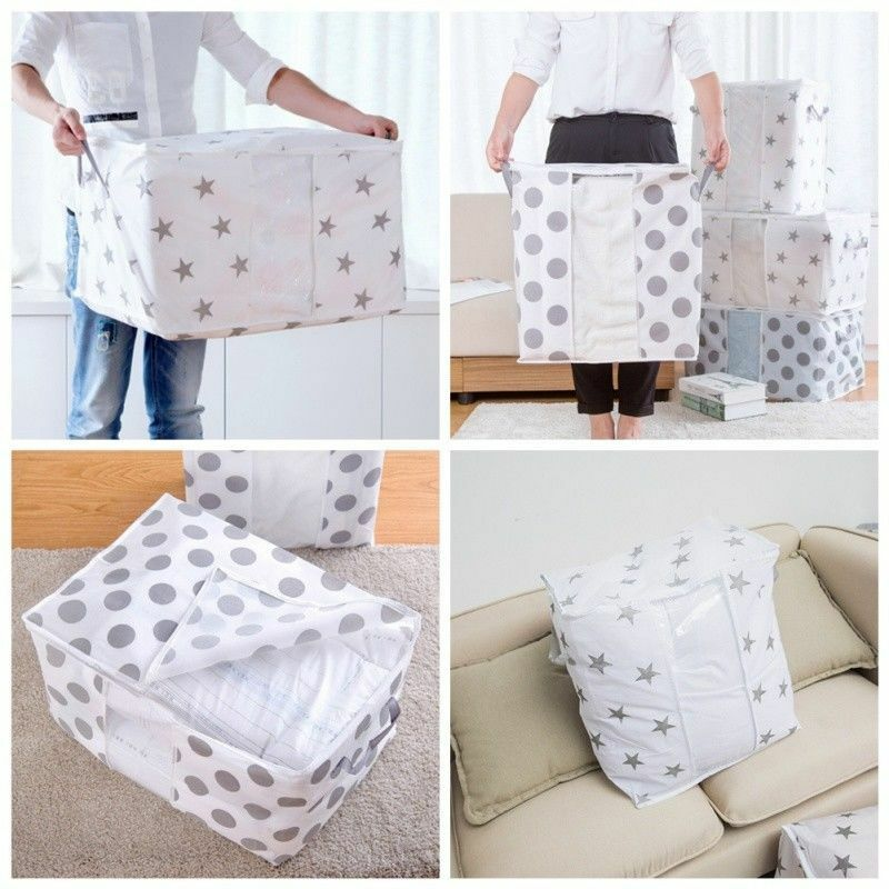 Large Clothes Pillows Storage Bag Box Quilt Bedding Laundry