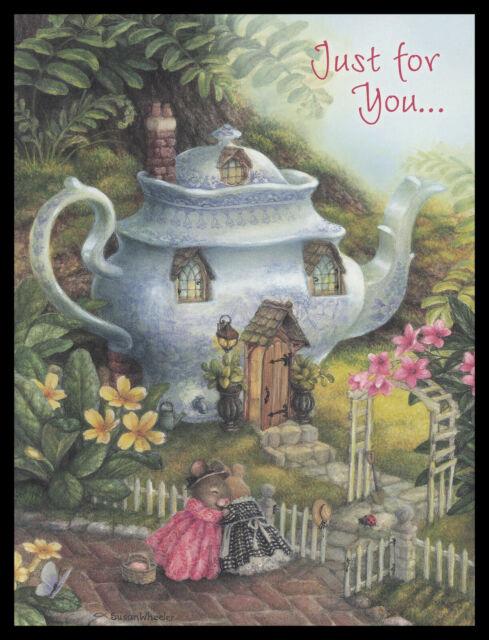 NEW SUSAN WHEELER Holly Pond Hill Mouse Ladybug House Birthday Greeting Card