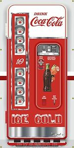 BUDWEISER BEER FRIDGE VENDING MACHINE VINTAGE REMAKE ART BANNER MURAL SIGN 2 x 6