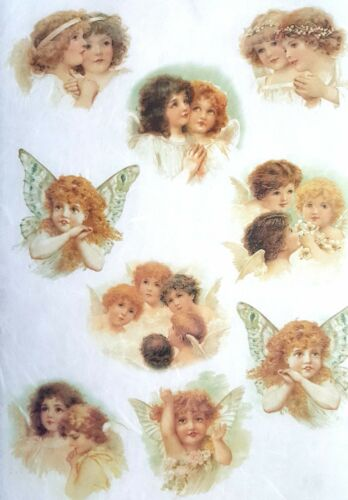 Papel De Arroz Para Decoupage Decopatch scrapbooking hoja Craft Vintage Angels C1