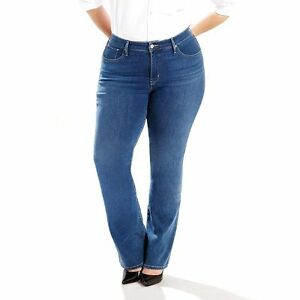 f36403087f6 LEVI S® 24M Plus Size 315 Indigo Tide Shaping Boot Cut Jeans NWT  70 ...