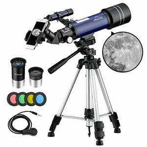 MAXLAPTER-Telescope-for-Kids-Adults-Astronomy-Beginners-70mm-Aperture-blue