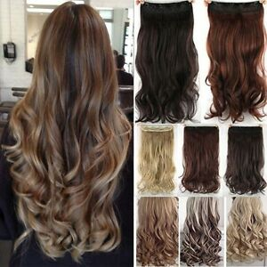 One piece natural full head clip in thick hair extensions wavy image is loading one piece natural full head clip in thick pmusecretfo Images