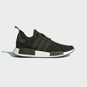 Details about Adidas Originals NMD R1 Primeknit Night Cargo Olive Green US 14 PK CQ2445 Boost