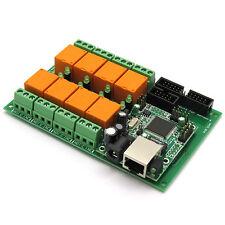 Ethernet Relay controller module, WEB server IP + Temperature sensor LM35DZ