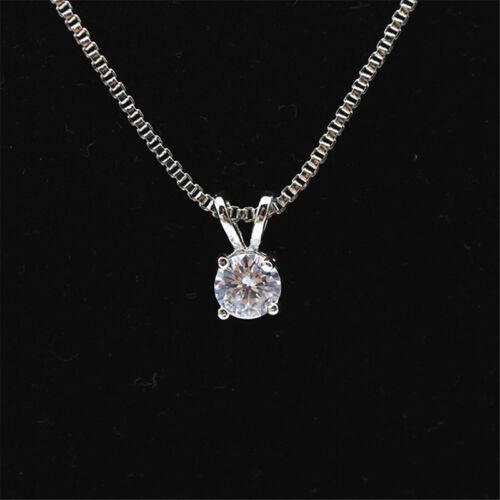 Elegant Solitaire Hearts And Arrows Zircon Pendant Necklace Women Jewelry LD