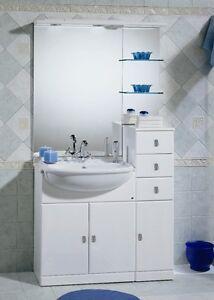 Mobile arredo bagno 70 30 lavabo semincasso bianco marmo for Arredo bagno bianco