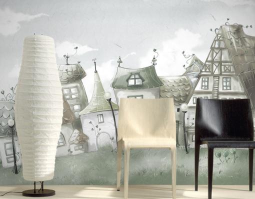 3D House Paint 5176 Wallpaper Murals Wall Print Wallpaper Mural AJ WALL UK Kyra