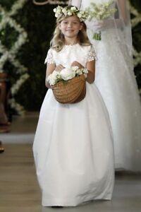 369aa3f4629  990 NEW Oscar de la Renta Bethany Long Snowflake FLOWER GIRL Dress ...