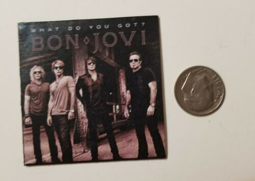 "Miniature record album BARBIE Gi Joe 1//6 playscale 2/"" BON JOVI que di te"