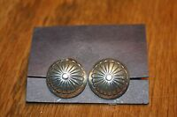 Native American Sterling Button Earrings