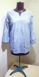 DG2-Diane-Gilman-Size-2X-Blue-White-Striped-Peasant-Blouse-w-embroidery-detail