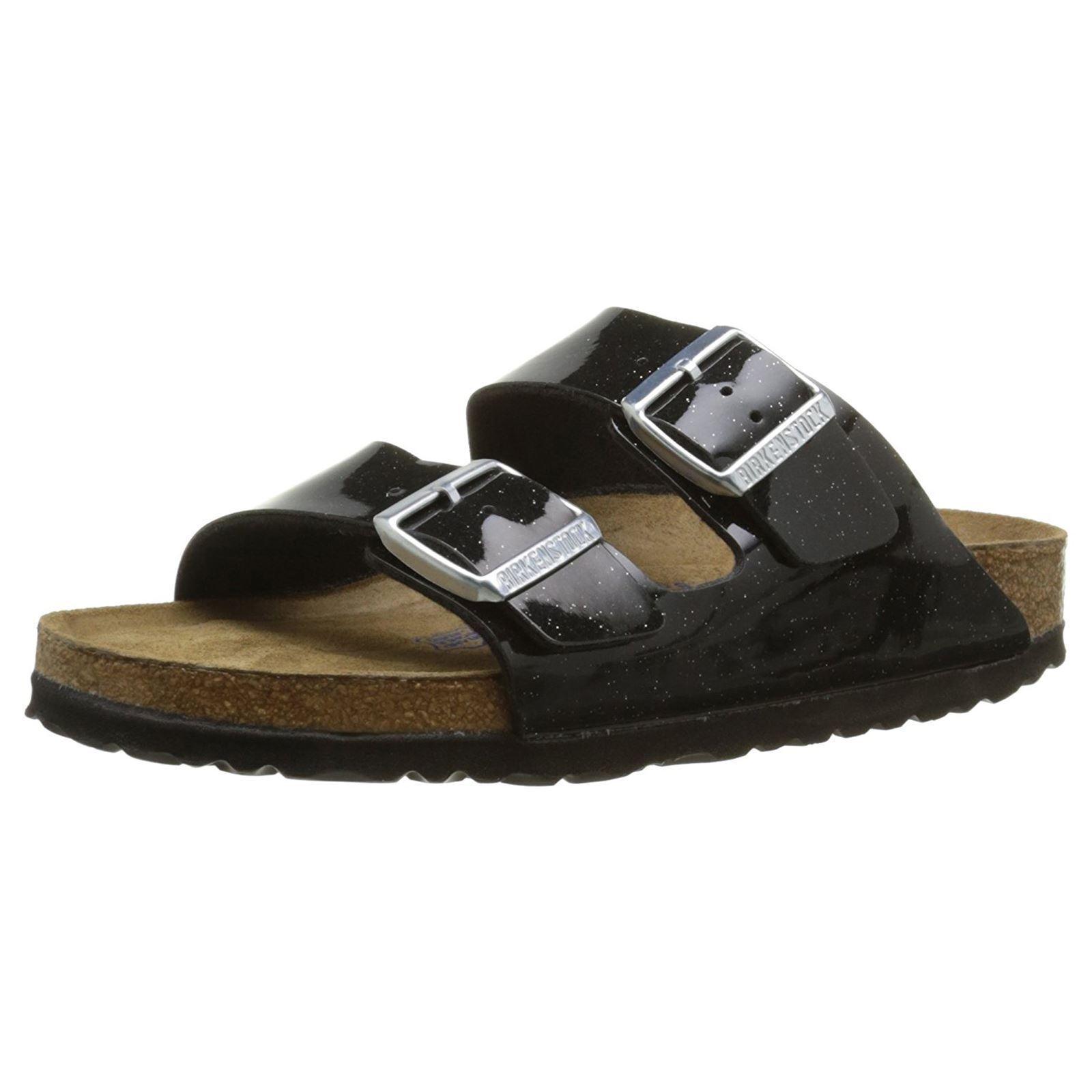 Último gran descuento Birkenstock Arizona Magic Galaxy Black Birko-Flor Soft Footbed Womens Sandals