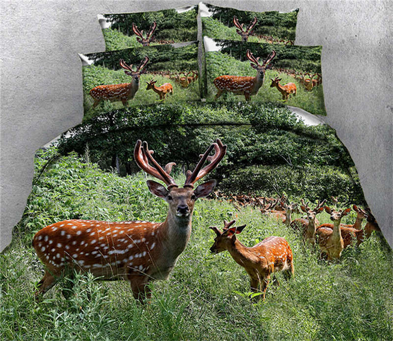 Verdant Sheep 3D Printing Duvet Quilt Doona Covers Pillow Case Bedding Sets