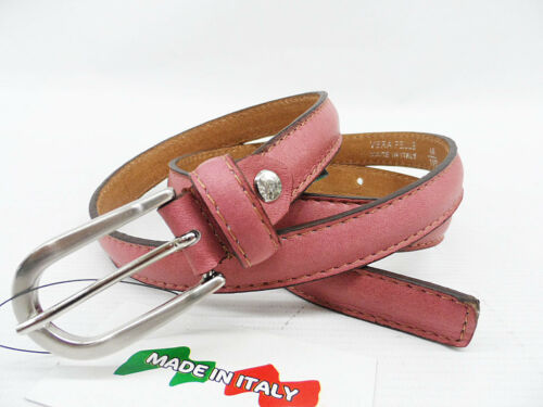 Cintura donna made in Italy linea pelle 02.20 fuxia