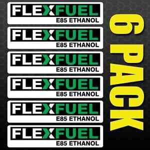 Image Is Loading Flex Fuel 6 Pack Stickers Gas Door Labels