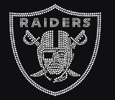 Oakland Raiders Bling Rhinestone Transfer Wholesale And Custom Orders