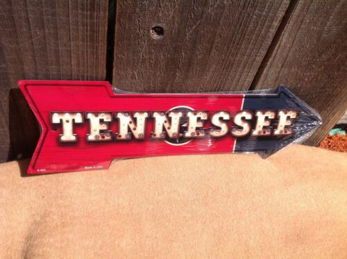 """Tennessee State Flag This Way To Arrow Sign Directional Novelty Metal 17/"""" x 5/"""""""