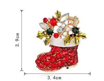 Cristal Estrás Mujer Chica Regalo De Navidad Broche Pin Varios Diseños