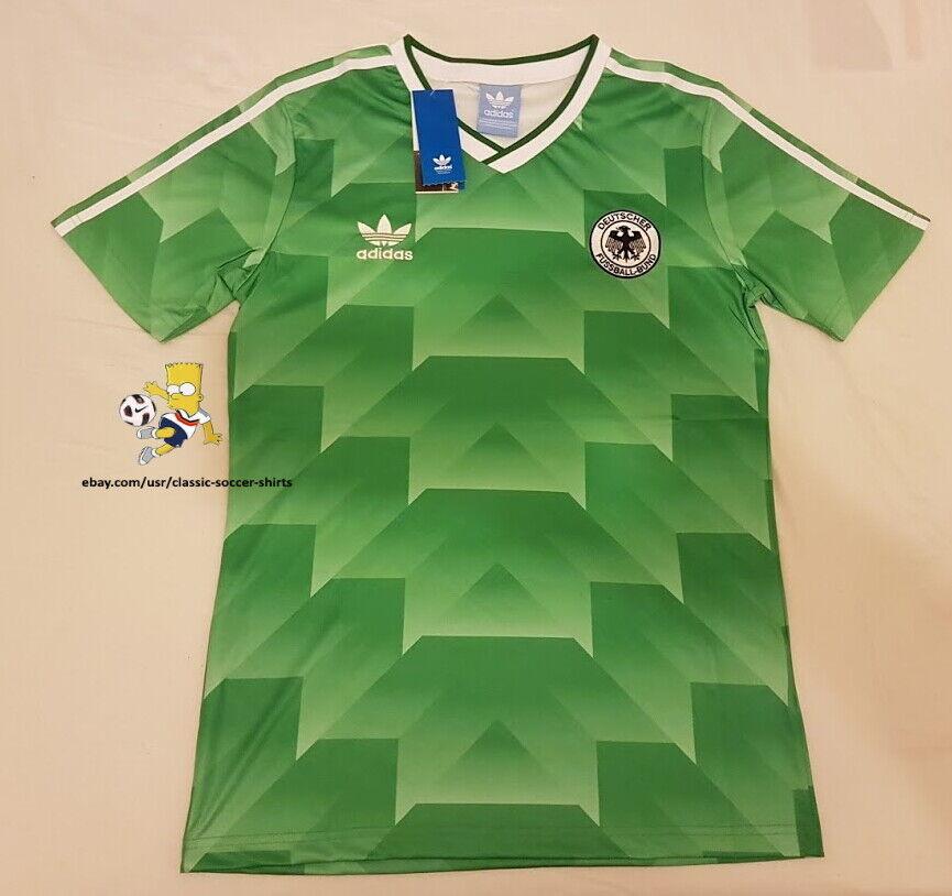 1990 West Germany Retro Football Soccer Shirt jersey Vintage Classic UK