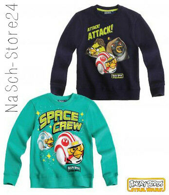 Angry Birds Star Wars Sweatshirt Gr.116-152 Pullover Shirt langarm  Lizenz 98135