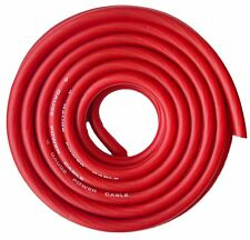 Soundbox Connected 4 Gauge Red Amplifier Amp Power/ground Wire 25 Feet Superflex Cable 25'