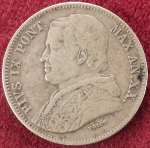 PAPAL STATES 20 Baiocchi 1865 R (F2503)-afficher le titre d`origine